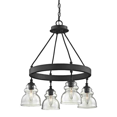Arla 4-Light Shaded Chandelier