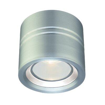 Entity 1-Light Flush Mount Finish: Satin Aluminum, Low Voltage: Yes