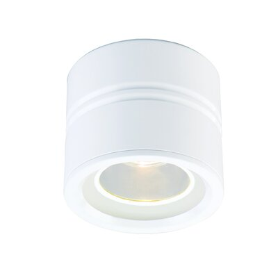 Entity 1-Light Flush Mount Finish: White, Low Voltage: Yes