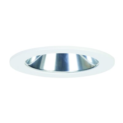 Eco Downlight Round Recessed Trim Reflector: Clear, Finish: Satin Aluminum