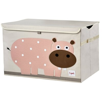 3 Sprouts Hippo Toy Box