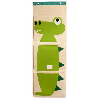 3 Sprouts Crocodile Wall Toy Organizer UWLCRO