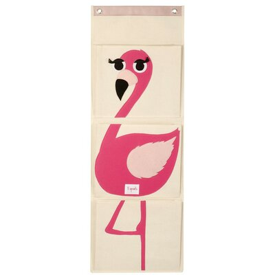 3 Sprouts Flamingo Wall Toy Organizer UWLFLM