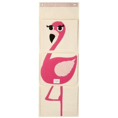 3 Sprouts Flamingo Wall Toy Organizer UWLFLM