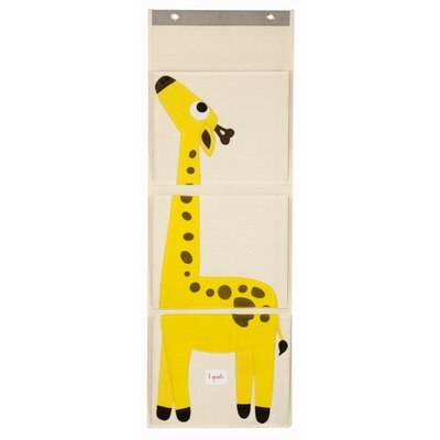 3 Sprouts Giraffe Wall Toy Organizer UWLGRF