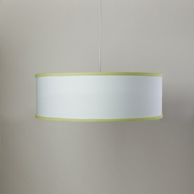 White Shallow 3-Light Cylinder Pendant Shade Color: White/Spring