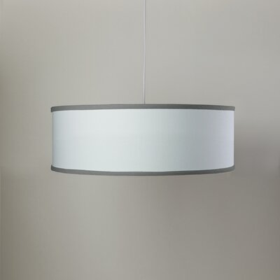 White Shallow 3-Light Cylinder Pendant Shade Color: White/Stone