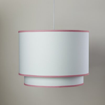 White 3-Light Double Cylinder Pendant Shade Color: White/Petal Pink