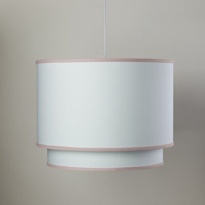 3-Light Double Cylinder Pendant Shade Color: Aqua Trim