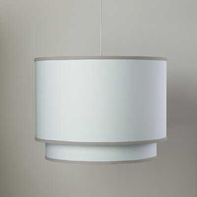 White 3-Light Double Cylinder Pendant Shade Color: White/Taupe