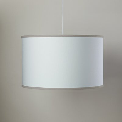 White 3-Light Large Cylinder Pendant Shade Color: White/Taupe