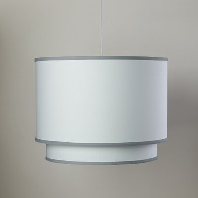 3-Light Double Cylinder Pendant Shade Color: Stone Trim