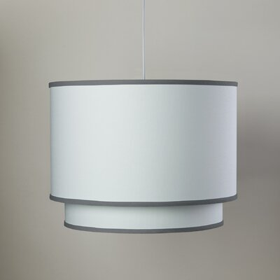 3-Light Double Cylinder Pendant Shade Color: Pewter Trim