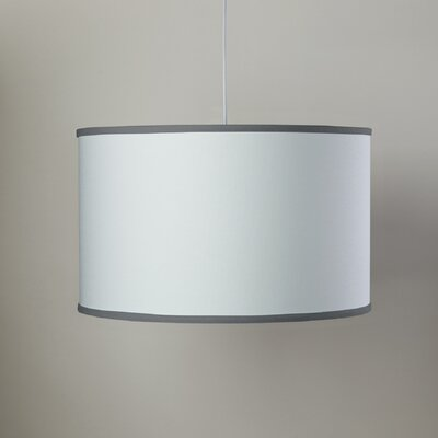 White 3-Light Large Cylinder Pendant Shade Color: White/Pewter
