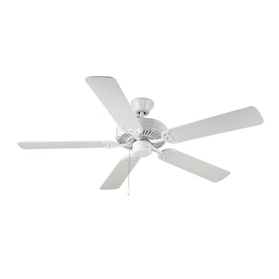 52 HomeBuilder I 5 Blade Ceiling Fan Finish: White