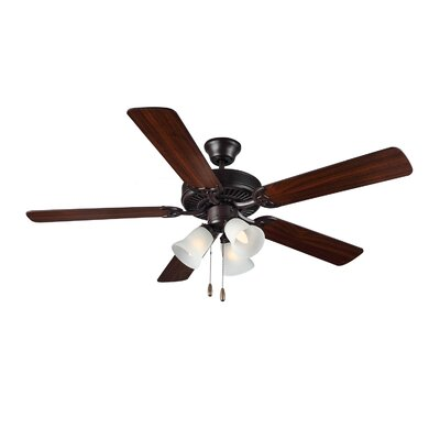 52 HomeBuilder III 5 Blade Ceiling Fan Finish: Bronze