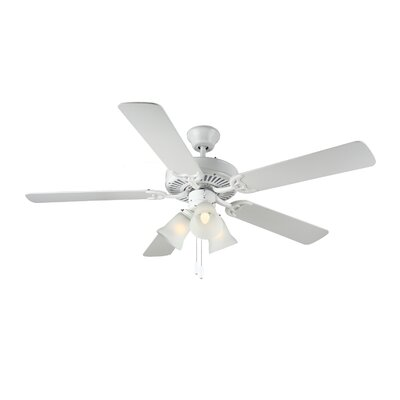 52 HomeBuilder III 5 Blade Ceiling Fan Finish: White