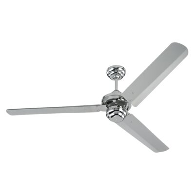 54 Defelice 3-Blade Ceiling Fan Finish: Polished Nickel