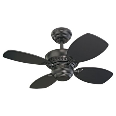 28 Stewardson 4-Blade Ceiling Fan Finish: Matte Black with Black Blades