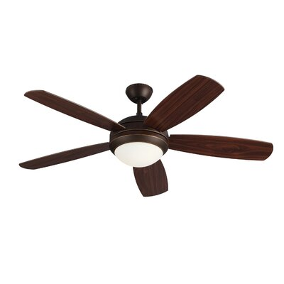 52 Sharp 5 Blade Ceiling Fan Finish: Bronze