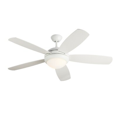 52 Sharp 5 Blade Ceiling Fan Finish: White