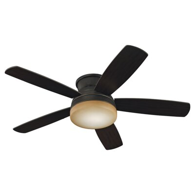 52 Greensboro 5 Blade Semi Flush LED Ceiling Fan Finish: Roman Bronze