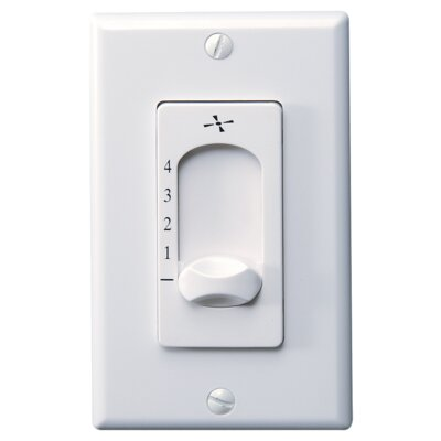 Four Speed Wall Control Finish: White