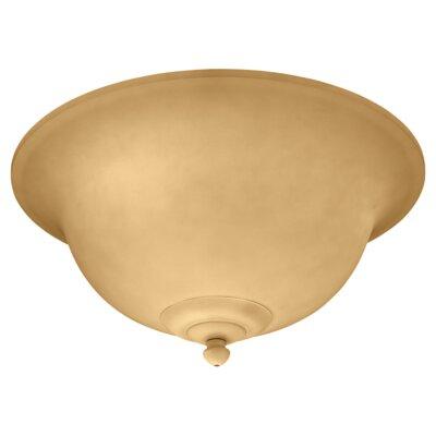 3-Light Ceiling Fan Light Kit or Semi Flush Mount Finish: Champagne Scavo