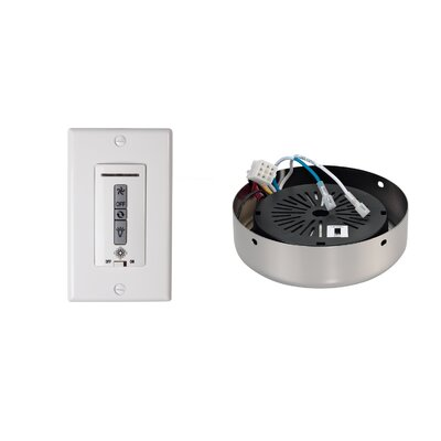 Hard-Wired Wall Remote Control, Receiver, Switch Plate and Receiver Hub Finish: Polished Nickel