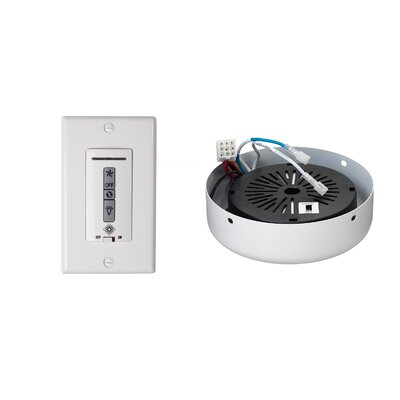 Hard-Wired Wall Remote Control, Receiver, Switch Plate and Receiver Hub Finish: Rubberized White