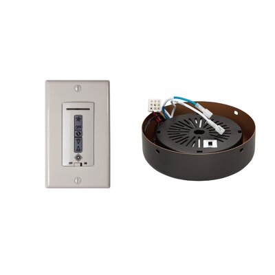 Hard-Wired Wall Remote Control, Receiver, Switch Plate and Receiver Hub Finish: Roman Bronze