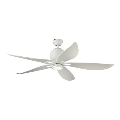 56 Lily LED Ceiling Fan with Remote Finish: White