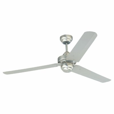 54 Defelice 3-Blade Ceiling Fan Finish: Brushed Pewter