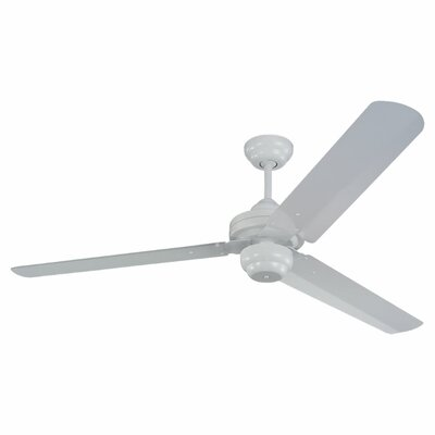 54 Defelice 3-Blade Ceiling Fan Finish: White