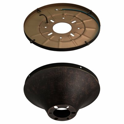 8 Semi Flush Mount Finish: Tuscan Bronze