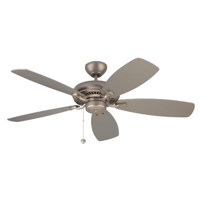 52 Tenbury 5 Blade Ceiling Fan with Remote Finish: Brushed Pewter