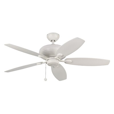 52 Hale 5 Blade Ceiling Fan with Remote Finish: Matte White
