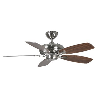 44 Tenbury 5 Blade Ceiling Fan with Remote Finish: Brushed Steel