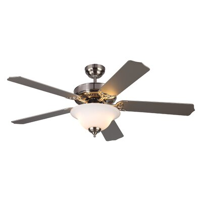 52 Beaudin 5 Blade Ceiling Fan Color: Brushed Steel