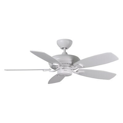 44 Tenbury 5 Blade Ceiling Fan with Remote Finish: Matte White