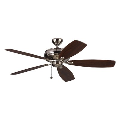 60 Hammersdale 5 Blade Ceiling Fan with Remote Finish: Brushed Steel