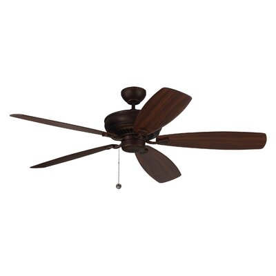 60 Arnos 5 Blade Ceiling Fan with Remote Finish: Roman Bronze