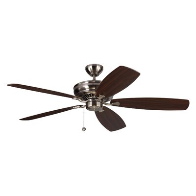 60 Arnos 5 Blade Ceiling Fan with Remote Finish: Brushed Steel