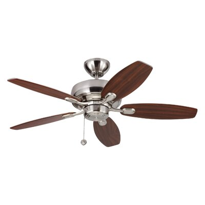 54 Hale 5 Blade Ceiling Fan with Remote Finish: Brushed Steel
