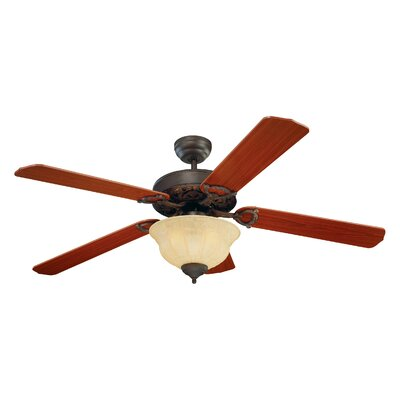 52 Beaudet 5 Blade Ceiling Fan Finish: Roman Bronze