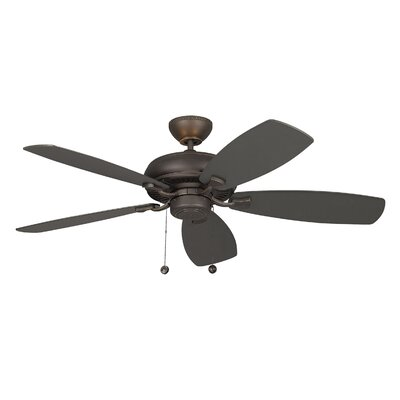 52 Dobson 5 Blade Ceiling Fan with Remote Finish: Roman Bronze