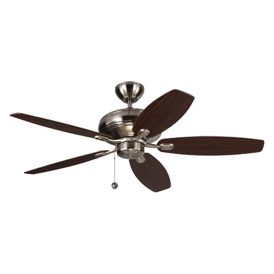 52 Hale 5 Blade Ceiling Fan with Remote Finish: Brushed Steel