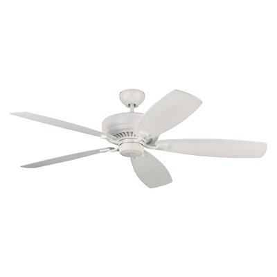 60 Arnos 5 Blade Ceiling Fan with Remote Finish: Matte White