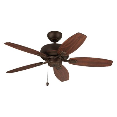 54 Hale 5 Blade Ceiling Fan with Remote Finish: Roman Bronze