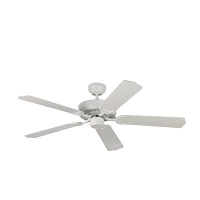 52 Holtby 5 Blade Ceiling Fan with Remote Finish: Matte White